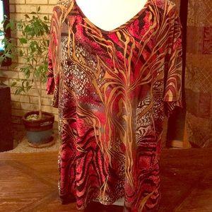 Peter Nygard animal print blouse